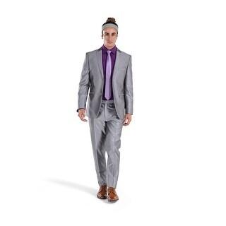 Porto Filo Silver Shinning Color 2Pcs Slim-Fit Men's Suit (Jacket+ Pant)