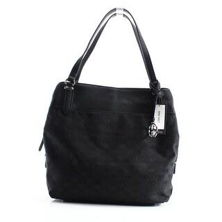 Nine West NEW Black Jacquard Signature Raleighy Medium Tote Bag Purse