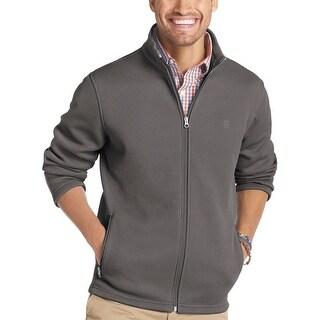 Izod Stratton Fleece Full Zip Sweatshirt Meteorite Grey Medium