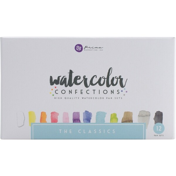 Prima Marketing Watercolor Confections Watercolor Pans 12/Pk-The Classics
