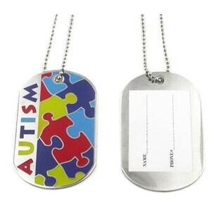 Autism ID Necklace - Multicolor