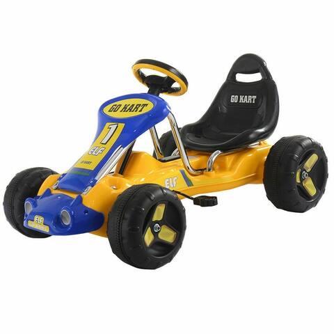 Go Kart Kids Ride On Car Pedal Powered Car 4 Wheel Racer Toy Stealth