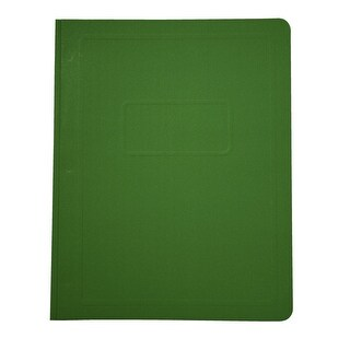 School Smart 3 Hole Fastener Rounded Report Cover, 8-1/2 x 11 Inches, Green, Pack of 25