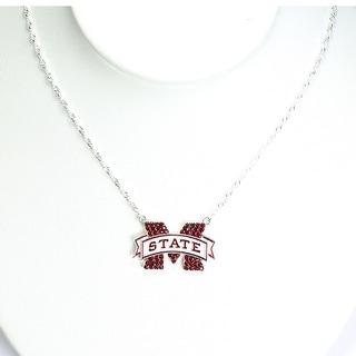 Mississippi State University Crystal Logo Necklace