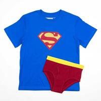 DC Comics Superman Boy's Shirt/Underwear Underoos Set - Blue