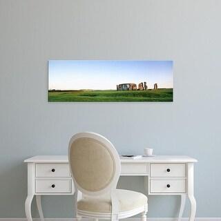Easy Art Prints Panoramic Images's 'Stonehenge Wiltshire England' Premium Canvas Art