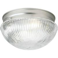Forte Lighting 6036-01 Flushmount Ceiling Fixture from the Close to Ceiling Collection - Brushed nickel