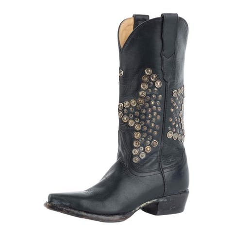 Stetson Western Boots Womens Antiqued Raven