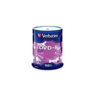 Verbatim G35491 S Verbatim 4.7 GB up to16x Branded Recordable Disc DVD+R 100 Disc Spindle 95098