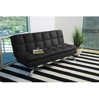 Link to Abbyson Vienna Bonded Leather Euro Futon Sofa Similar Items in Living Room Furniture