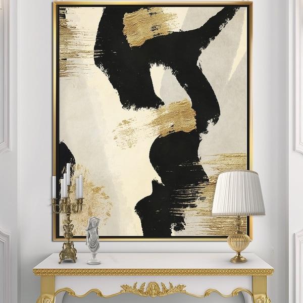 Designart 'Glam Collage II' Modern & Contemporary Framed Canvas - Black. Opens flyout.