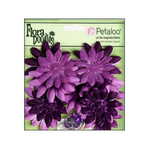 Petaloo FloraDoodles Daisy Layers Sm Plum