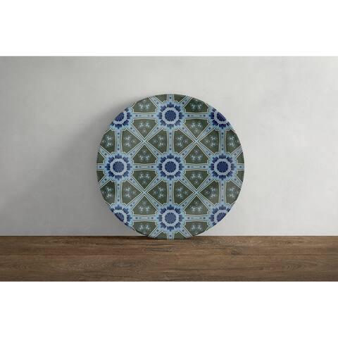 Amrita Sen Window Wreath Palace 10 in Decorative Microwave Safe Thermosaf Dinner Plate