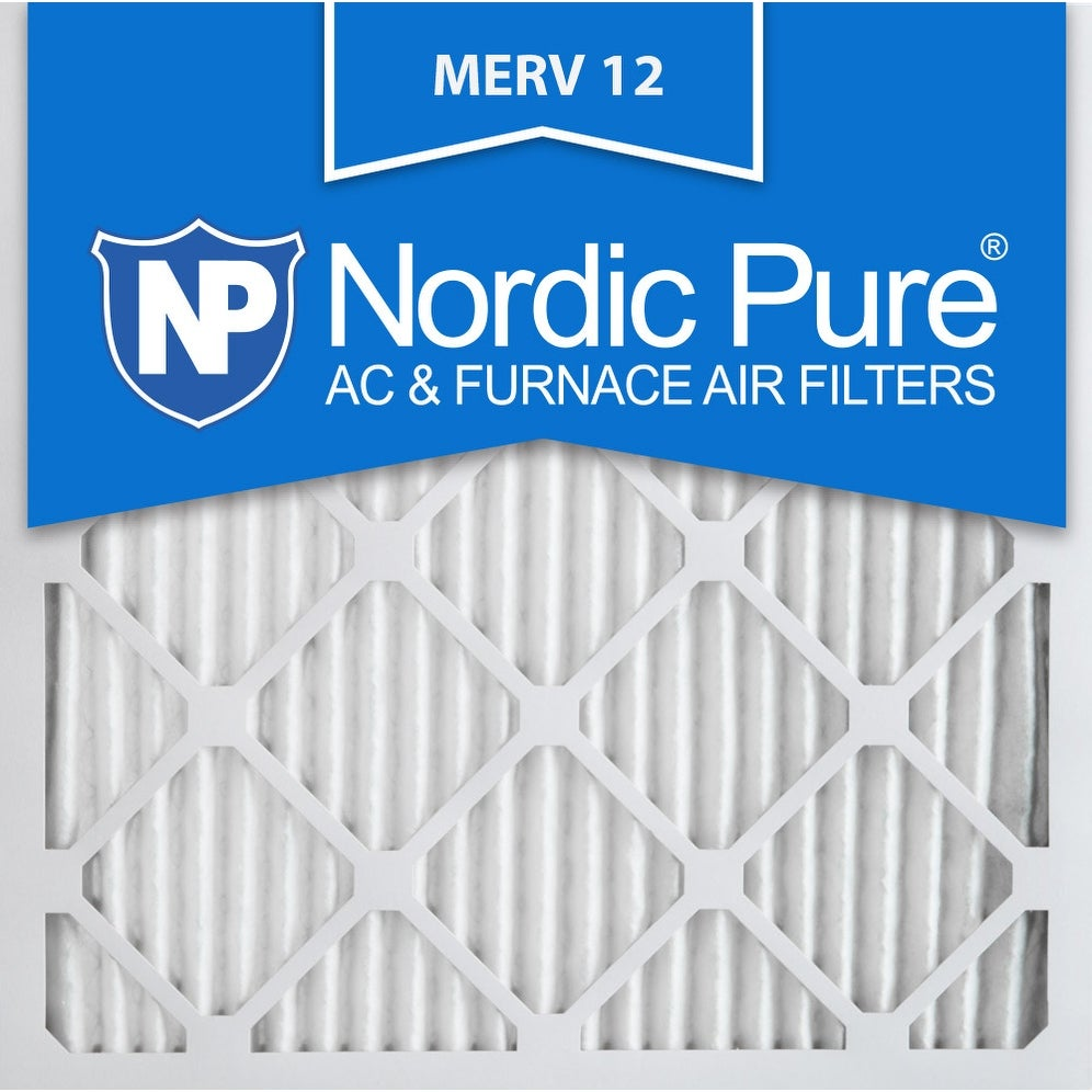 Nordic Pure 14x14x1 Pleated MERV 12 AC Furnace Air Filters Qty 24