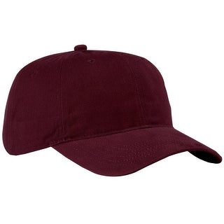 Brushed Twill Low Profile Cap, Color: Maroon, Size: One Size - Maroon