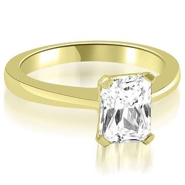 0.75 cttw. 14K Yellow Gold Solitaire Emerald Cut Diamond Engagement Ring