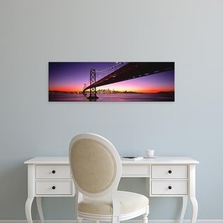 Easy Art Prints Panoramic Images's 'Bay Bridge San Francisco CA USA' Premium Canvas Art