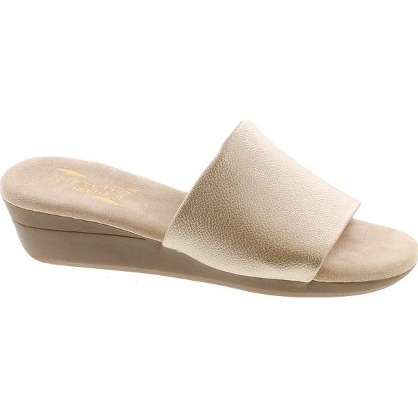 Aerosoles Women's Florida Wedge Sandal - Gold