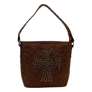 "Blazin Roxx Western Handbag Womens Nina Shoulder Studded Tan N7598608 - 14 1/2"" x 5 1/2"" x 11"""