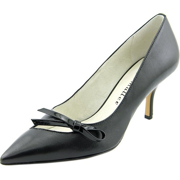 Bettye Muller Addy Women Pointed Toe Leather Black Heels