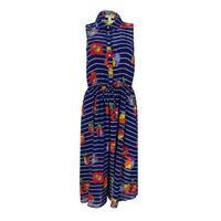 Maison Jules Women's Floral Print Sleeveless Dress - tartan blue combo - m