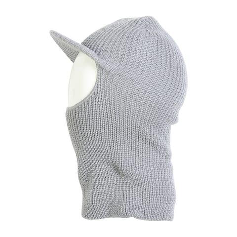 Face Ski Mask w/ Visor - Light Grey