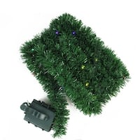 18' Pre-Lit B/O Green Pine Artificial Christmas Garland -  Multi LED Lights