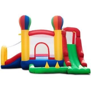 Gymax Inflatable Bounce House Moonwalk Bouncer Castle Jumper Mesh Wall&Carrying Bag - as pic