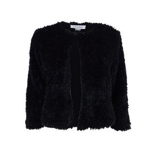Calvin Klein Women's Faux-Fur Cropped Jacket