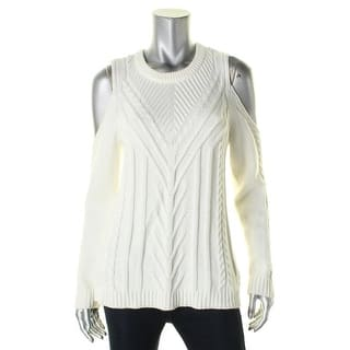 Vince Camuto Womens Petites Pullover Sweater Cold Shoulder Cable Knit - pm https://ak1.ostkcdn.com/images/products/is/images/direct/e346e38a580c9c9eacffcb0eda6a69ec47227281/Vince-Camuto-Womens-Petites-Pullover-Sweater-Cold-Shoulder-Cable-Knit.jpg?impolicy=medium