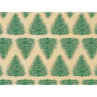 """Pack Of 240, Evergreen Kraft Kraft Recycled Christmas Printed Tissue Paper 20"""" X 30"""" Sheets Made In Usa"""