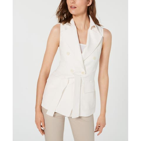 Anne Klein Women's Jacket Double Breasted Trench Vest