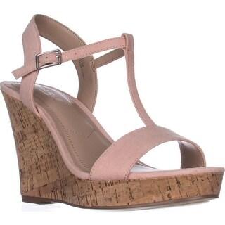 Charles Charles David Libra Wedge Sandals, Blush