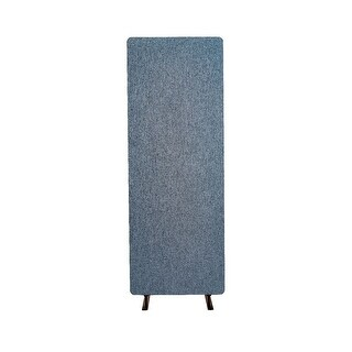 Offex Reclaim Acoustic Fabric Single Panel Room Divider In Pacific Blue