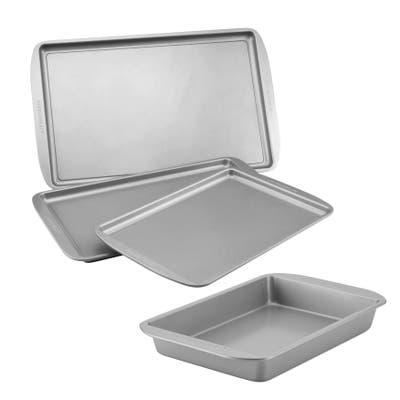 Farberware Nonstick Bakeware Cookie Pan & Cake Pan Set, 4-Piece