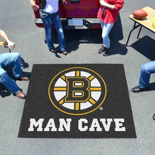 best service 70b12 a2e44 NHL - Boston Bruins Man Cave Tailgater Rug 5 Feet x 6 Feet