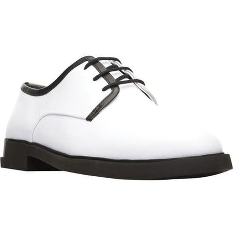 Camper Women's Twins Oxford White Smooth Leather