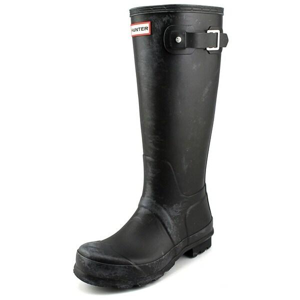 Hunter Original Tall Women Round Toe Synthetic Black Rain Boot