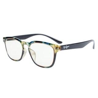 Eyekepper Vintage Flex Lightweight Plastic Frame Yellow Tinted Lenses Glasses Green DEMI+0.5
