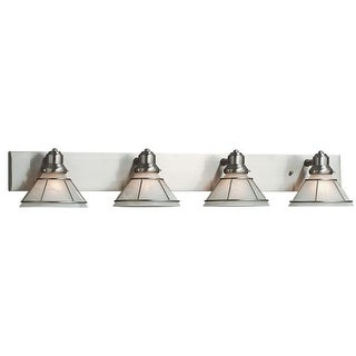 """Dolan Designs 634 4 Light 38"""" Wide Bathroom Fixture from the Craftsman Collection - Grey"""