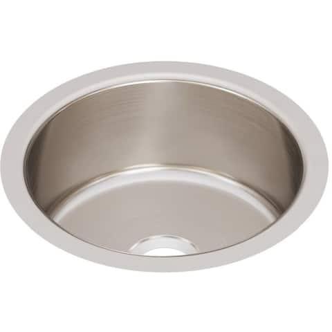 "Elkay ELUH12FB Lustertone 14-3/8"" Undermount Single Basin Stainless Steel Kitchen Sink - Stainless Steel"
