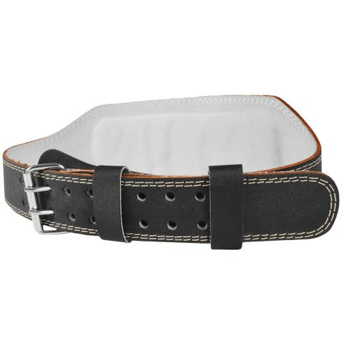 "Valeo 6"" Leather Weight Lifting Belt"