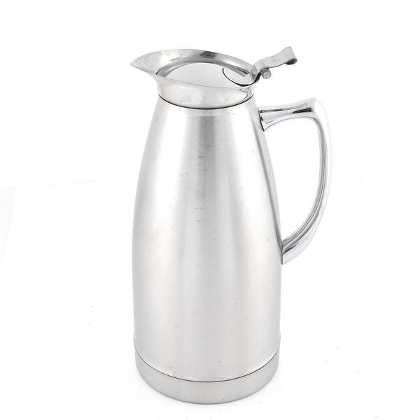 Unique Bargains 1L Stainless Steel Sanding Surface Heat Preservation Water Pot Kettle Vessel