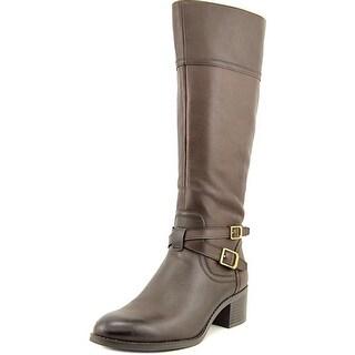Franco Sarto Lapis Women  Round Toe Leather Brown Knee High Boot