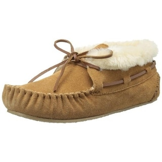 Minnetonka Womens Chrissy Suede Moccasin Bootie Slippers