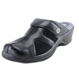 Softwalk Action Women WW Round Toe Leather Clogs