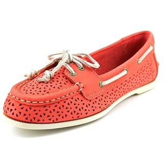 Sperry Top Sider Audrey Perfed Women Moc Toe Leather Pink Boat Shoe
