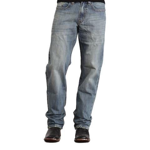 Stetson Western Denim Jeans Mens Medium Wash