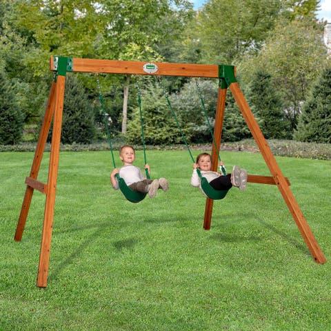 Backyard Discovery Little Durango Heavy-Duty Swing Set