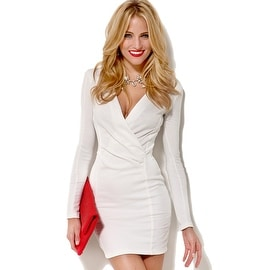 NEW Women Casual Bodycon Bandage Long Sleeve Evening Formal Party Cocktail Short Mini Dress